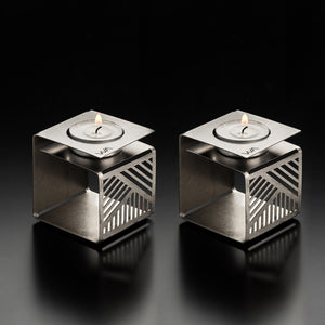 KLARA - Metal Origami Urban Candle Holder