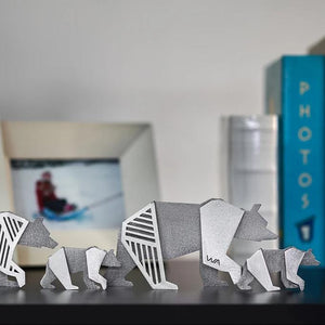 bears modern origami style shelf decor