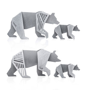 BEARS FAMILY- Geometric Origami Figurines