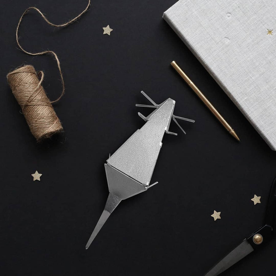designer origami style mouse figurine