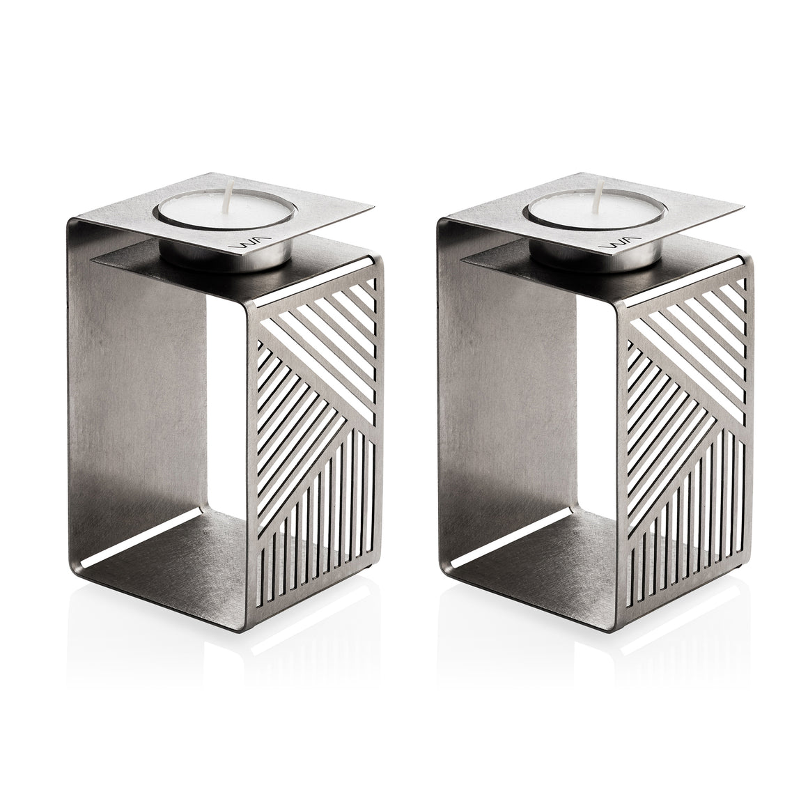 tall modern geometric style sabbath tea light holders