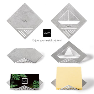 origami inspired geometric stationary set