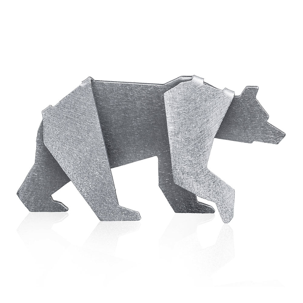 Little geometric bear figurine