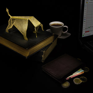 abstract bull desk accessory