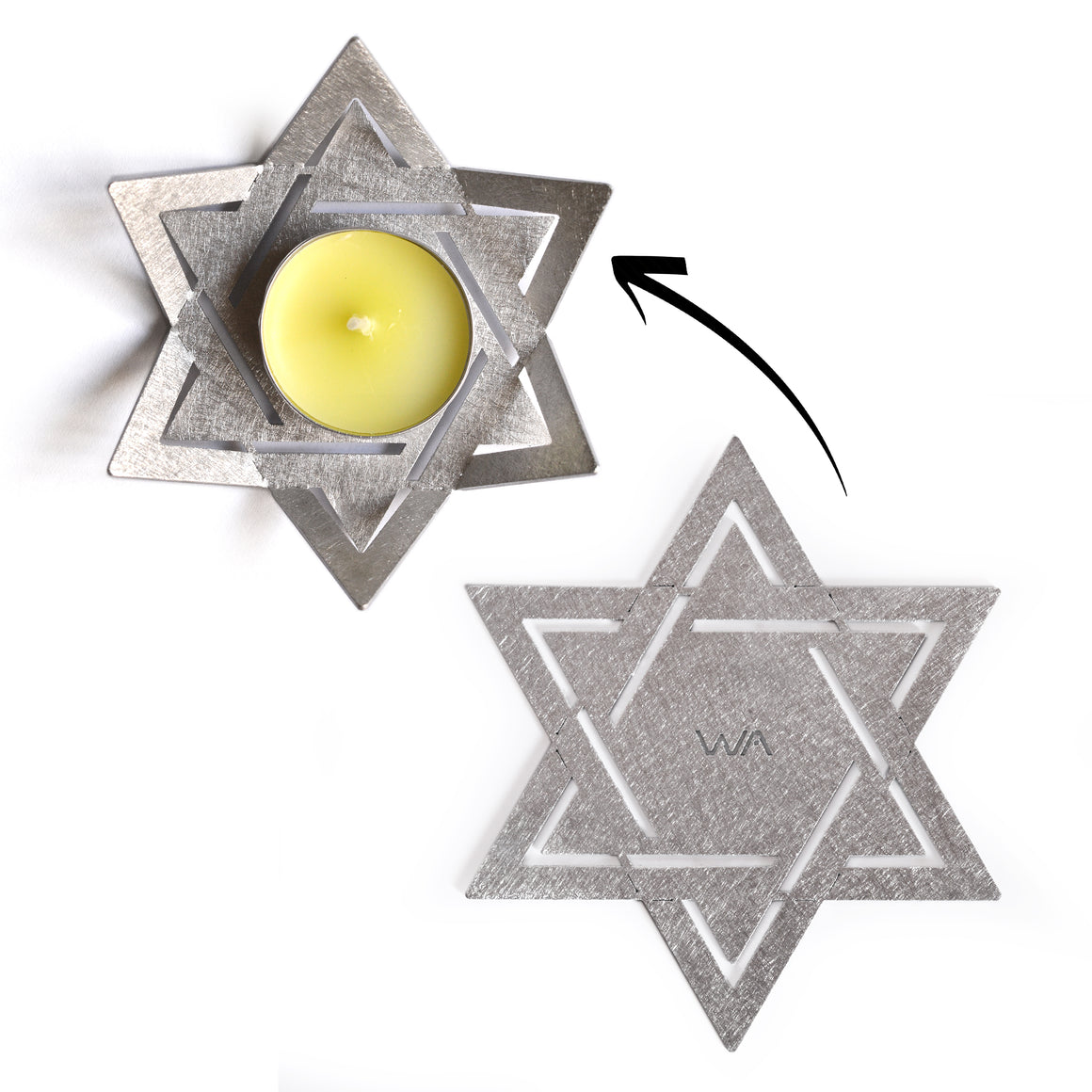 star of David tea light holder