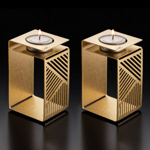 KARL- Geometric Brass Candle Holder