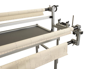 Q24 Long arm quilting machine on a frame