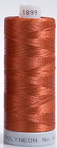 Polyneon Embroidery Thread Strip 10 (Brown/Peach)