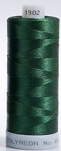 Polyneon Embroidery Thread Strip 9 (Green/Olive)