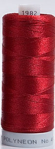 Polyneon Embroidery Thread Strip 3 (Orange/Red/Wine)
