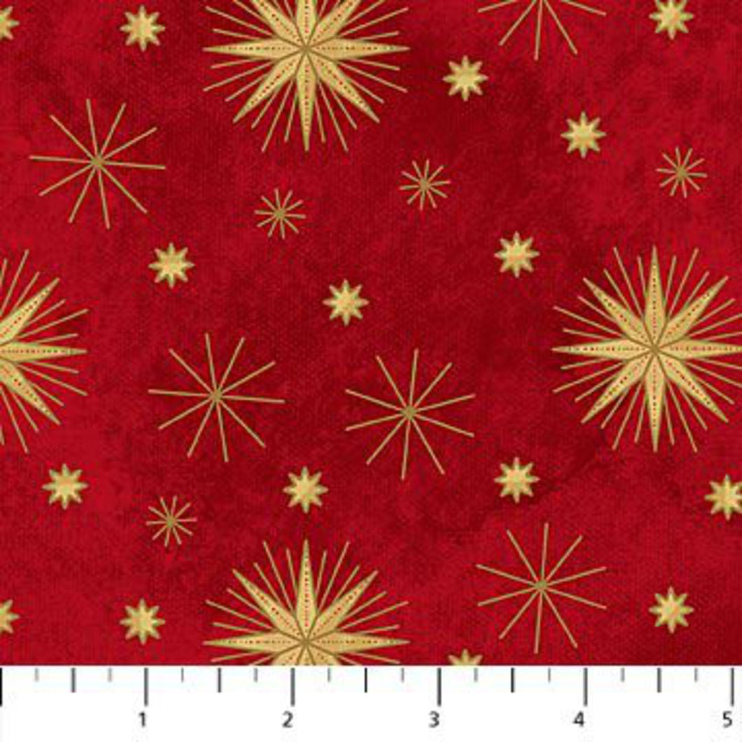 Northcott Angels above fabric- Red