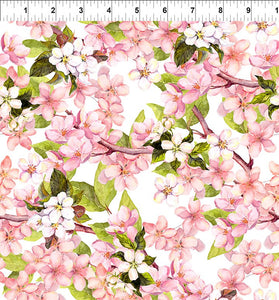 In the Beginning fabric- Pretty in pink floral