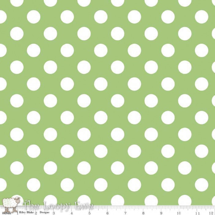 Riley Blake Green Dot Fabric