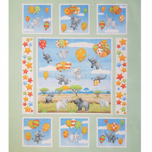 Up and Away Cot Quilt Panel