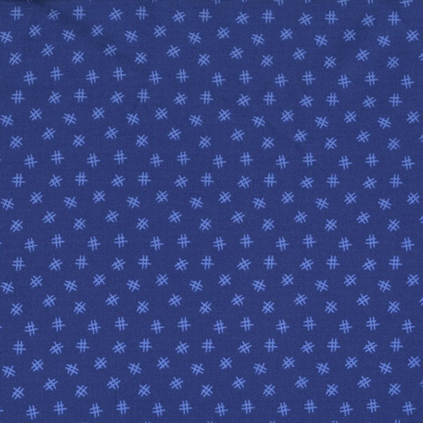 RJR Fabrics - Welcome to My World Blue Hash