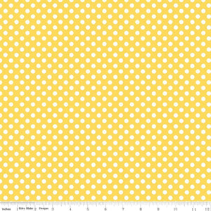 Riley Blake Small Dot Yellow