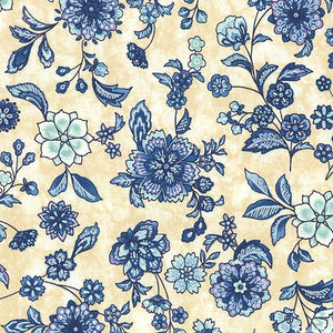 Robert Kaufman -Calista Cornflower Summer Floral