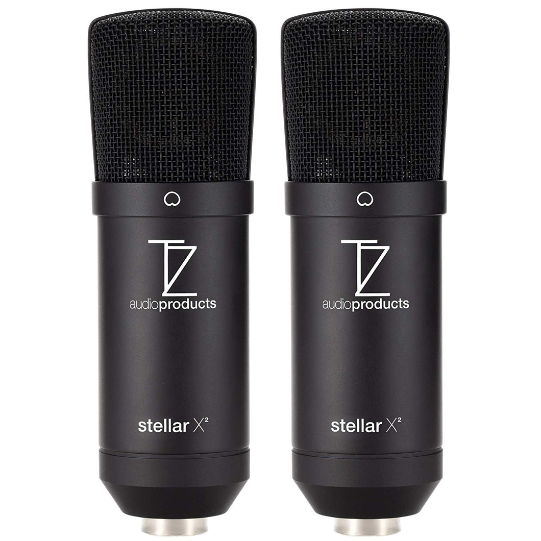 Matched Pair Stellar X2 Large Capsule Condenser Microphones