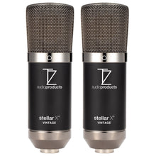 Load image into Gallery viewer, Matched Pair Stellar X2 Vintage Large Capsule Condenser Microphones