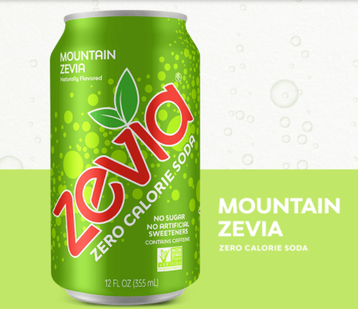 Zevia Zero Calorie Soda - Mountain Zevia - Keto Friendly Soda