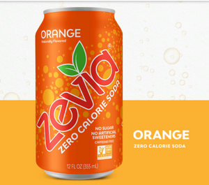 Zevia Zero Calorie Soda - Orange - Keto Friendly Soda