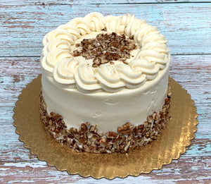 "IN STORE ONLY - Keto 6"" Carrot Cake - Decorated Carrot Cake - Gluten Free, Sugar Free, Low Carb, Keto & Diabetic Friendly"