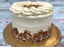 "Load image into Gallery viewer, IN STORE ONLY - Keto 6"" Carrot Cake - Decorated Carrot Cake - Gluten Free, Sugar Free, Low Carb, Keto & Diabetic Friendly"