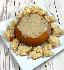 Keto Bread Bowl with Soup - IN STORE ONLY, Gluten Free, Sugar Free, Low Carb, Keto & Diabetic Friendly