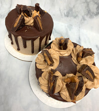 "Load image into Gallery viewer, IN STORE ONLY - Keto 4"" Mini Cakes - Chocolate - Chocolate & Peanut Butter Explosion"