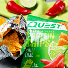 Load image into Gallery viewer, Quest Nutrition - Tortilla Style Protein Chips - Chili Lime - High Protein, Low Carb, Keto Friendly