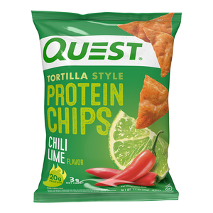 Quest Nutrition - Tortilla Style Protein Chips - Chili Lime - High Protein, Low Carb, Keto Friendly
