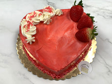 "Load image into Gallery viewer, IN STORE ONLY - Keto 8"" Heart Cake - Decorated Heart Shaped Cake - Gluten Free, Sugar Free, Low Carb, Keto & Diabetic Friendly"