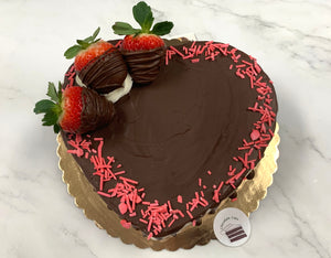 "IN STORE ONLY - Keto 8"" Heart Cake - Decorated Heart Shaped Cake - Gluten Free, Sugar Free, Low Carb, Keto & Diabetic Friendly"
