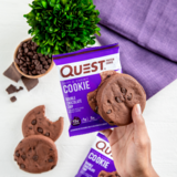 Quest Nutrition - Protein Cookie, Double Chocolate Chip - Gluten Free, High Protein, Low Carb, Keto Friendly