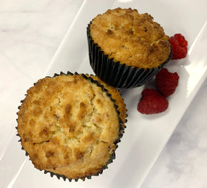 Keto Raspberry Lemon Muffins - Raspberry Lemonade Muffins, Gluten Free, Sugar Free, Low Carb, Keto & Diabetic Friendly
