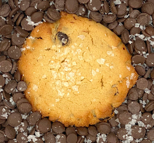 Giant Keto Cookies - Double the Size - Salted Caramel Chocolate Chip - Gluten Free, Sugar Free, Low Carb, Keto & Diabetic Friendly