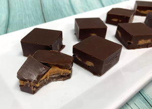 Keto Peanut Butter Chocolate Squares - IN STORE ONLY!!! Gluten-Free, Sugar-Free, Low Carb, Keto & Diabetic Friendly