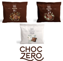 Load image into Gallery viewer, Choc Zero 70% Dark Chocolate Squares - Keto Chocolate
