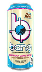 Bang Energy Drink - Keto Coffee- Birthday Cake Bash - High Protein, Keto Friendly