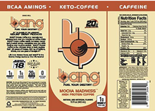 Load image into Gallery viewer, Bang Energy Drink - Keto Coffee- Mocha Madness