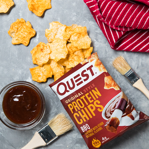 Quest Nutrition -Tortilla Style Protein Chips - Barbeque - High Protein, Low Carb, Keto Friendly