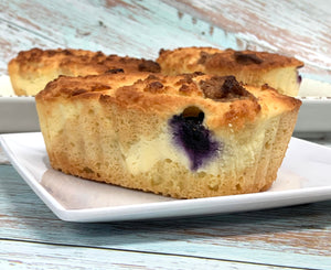 Keto Blueberry Cheesecake Loaf - Gluten Free, Sugar Free, Low Carb, Keto & Diabetic Friendly