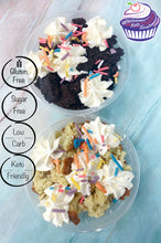 Load image into Gallery viewer, Keto Cake Scrap Cups - Vanilla, Chocolate, Funfetti, Carrot or Red Velvet - Gluten Free, Sugar Free, Low Carb, Keto & Diabetic Friendly