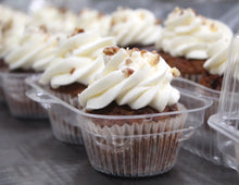 Load image into Gallery viewer, IN STORE ONLY - Keto Cupcakes - Carrot Cake Decorated w/ Cream Cheese Buttercream, Gluten Free, Sugar Free, Low Carb, Keto & Diabetic Friendly