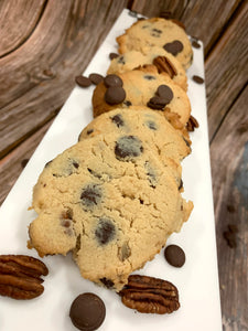 Keto Chocolate Chip Pecan Cookies  **LAST BATCH** - Gluten Free, Sugar Free, Low Carb, Keto & Diabetic Friendly