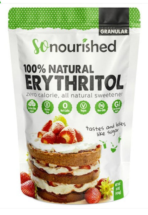 Granulated Erythritol Sweetener - SoNourished Erythritol Sweetener