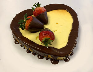 "IN STORE ONLY - Keto 4"" Heart Cheese Cake - Decorated Heart Shaped Cheese Cakes - Gluten Free, Sugar Free, Low Carb, Keto & Diabetic Friendly"