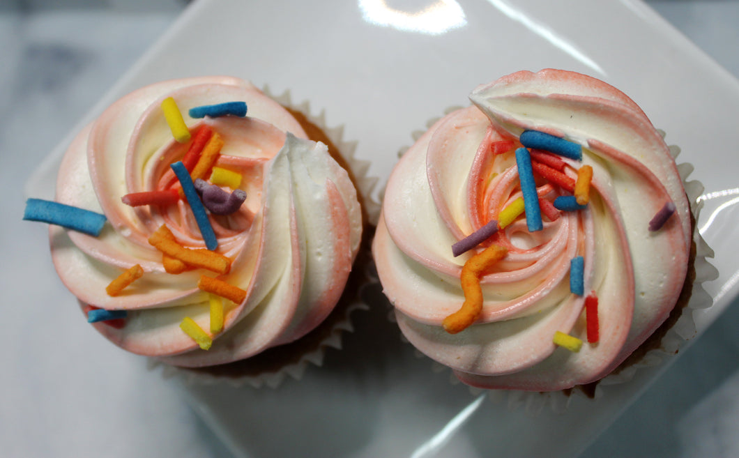 IN STORE ONLY - Keto Cupcakes - Funfetti Cake Batter Decorated Cupcake - Gluten Free, Sugar Free, Low Carb, Keto & Diabetic Friendly
