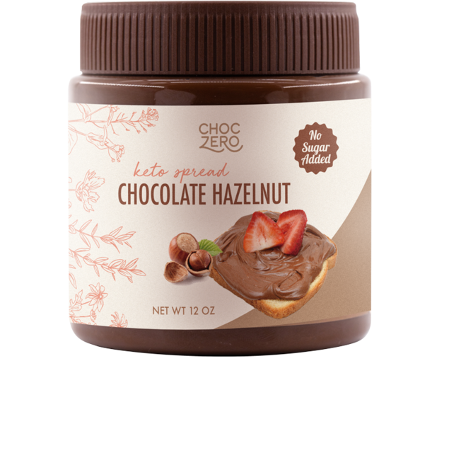 Choc Zero - Keto Hazelnut Chocolate Spread - Low Carb, Gluten Free, No Sugar Added