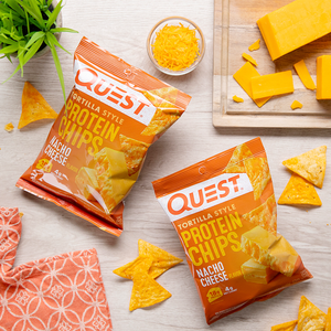 Quest Nutrition -Tortilla Style Protein Chips - Nacho Cheese - Gluten Free, High Protein, Keto & Diabetic Friendly